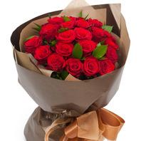 빨강장미꽃다발(잎사귀포함)