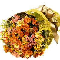 노란소국꽃다발1